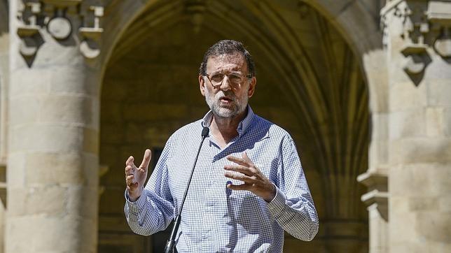 Rajoy, en un acto este verano en Celanova (Orense)