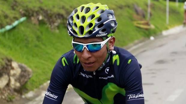 Nairo Quintana, durante una prueba ciclista.