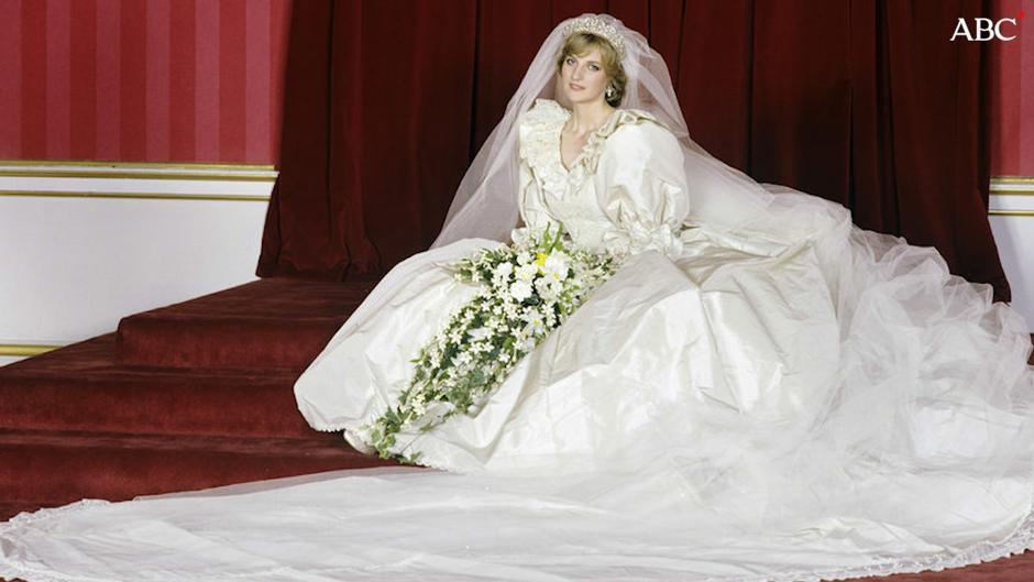 el misterioso vestido de novia de diana de gales
