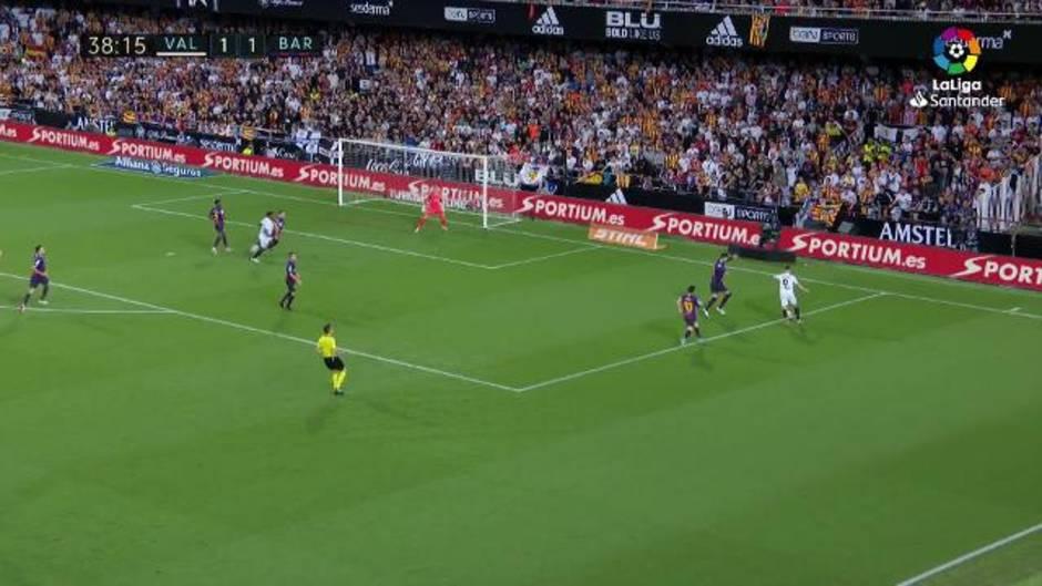 LaLiga (J8): Resumen y goles del Valencia 1-1 Barcelona