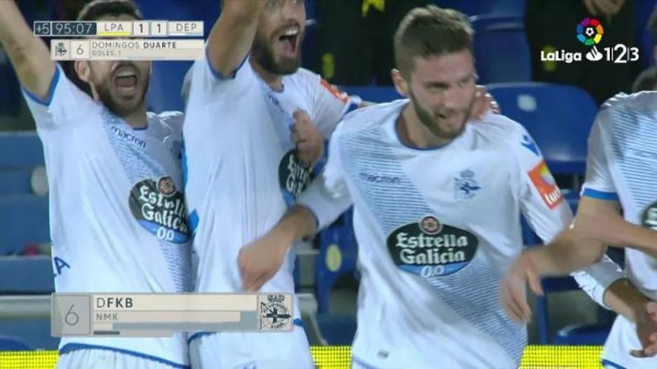 LaLiga 123 (J12) Gol de Domingos Duarte (1-1) en el Las Palmas 1-1 Deportivo f4bbe3c7dea7b