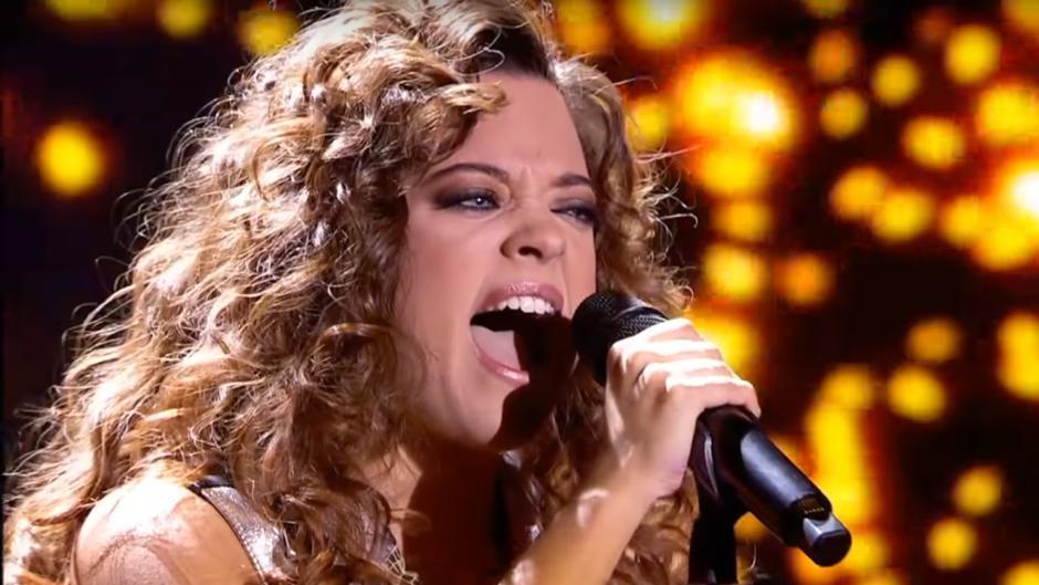 Noelia durante su actuación en la Gala 7 de Operación Triunfo