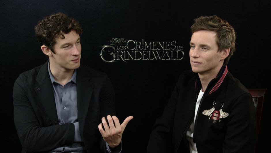 Entrevista con Callum Turner y Eddie Redmayne durante la presentación de Animales fantásticos: Los crímenes de Grindelwald