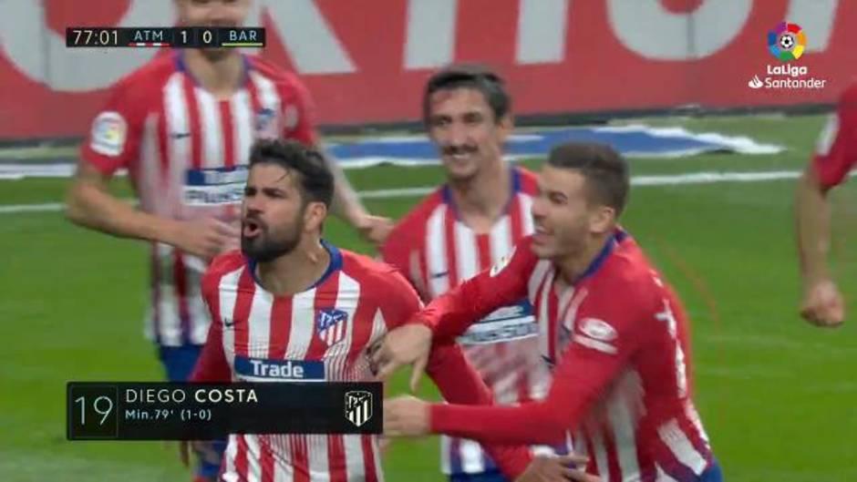 Gol de Diego Costa (1-0)en el Atlético de Madrid 1-1 Barcelona 6dab6f13a7e8c