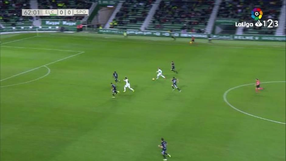 LaLiga123 (J17): Resumen del Elche 0-0 Sporting