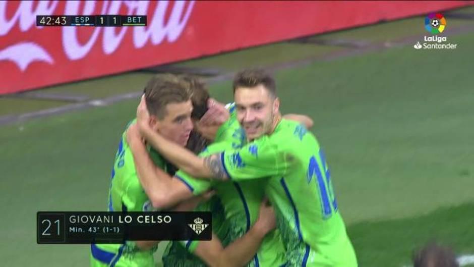 LaLiga Santander (J16): Resumen y goles del Espanyol 1-3 Betis