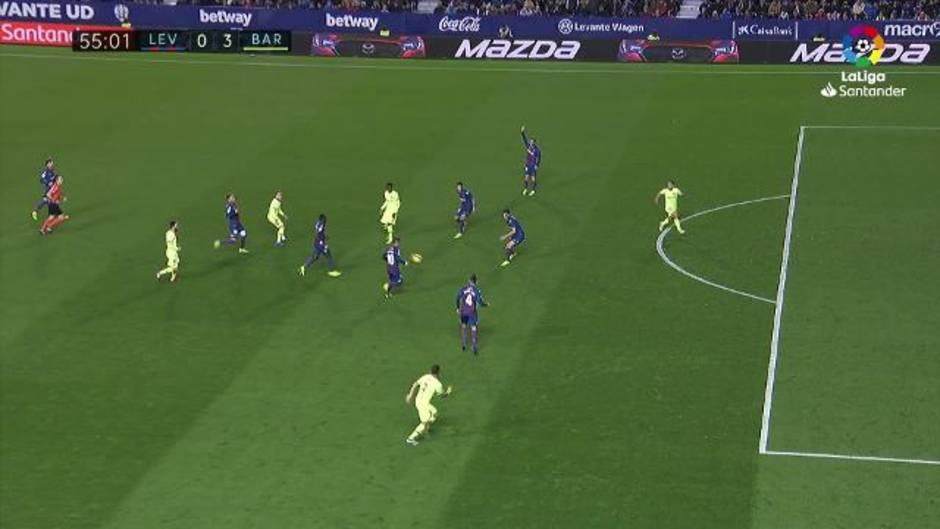 LaLiga Santander (J. 16): Resumen y goles del Levante 0-5 Barcelona
