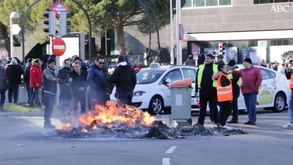 Los taxistas protagonizan la inauguración de Fitur