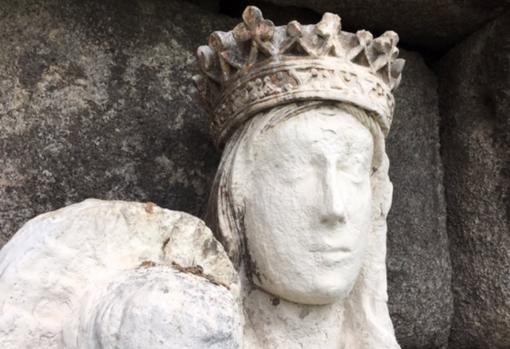 Imagen de la Virgen compartida en redes por el equipo de restauración