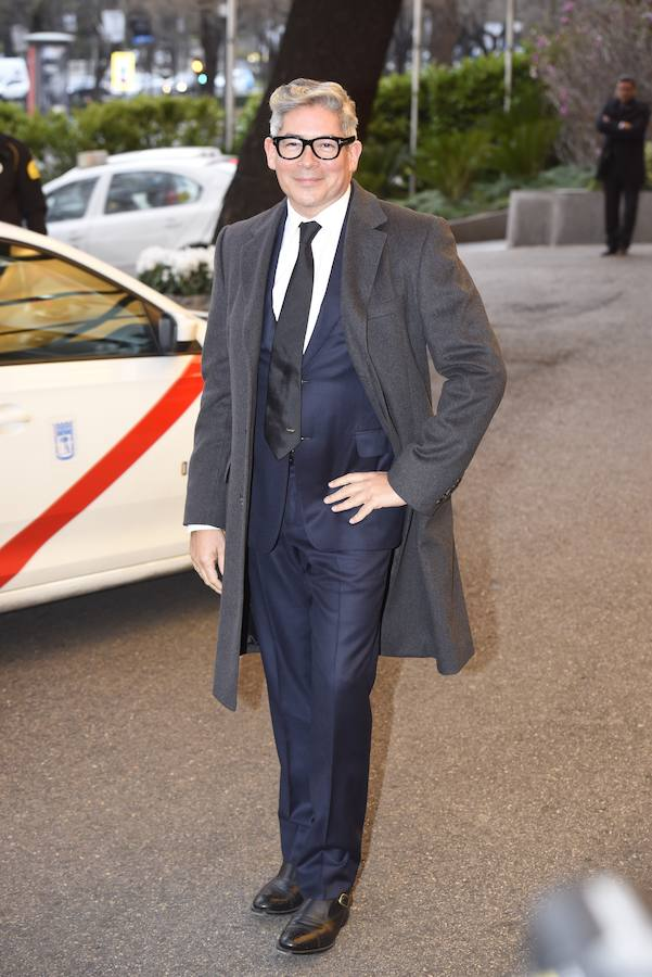 Boris Izaguirre llega al hotel Villamagna