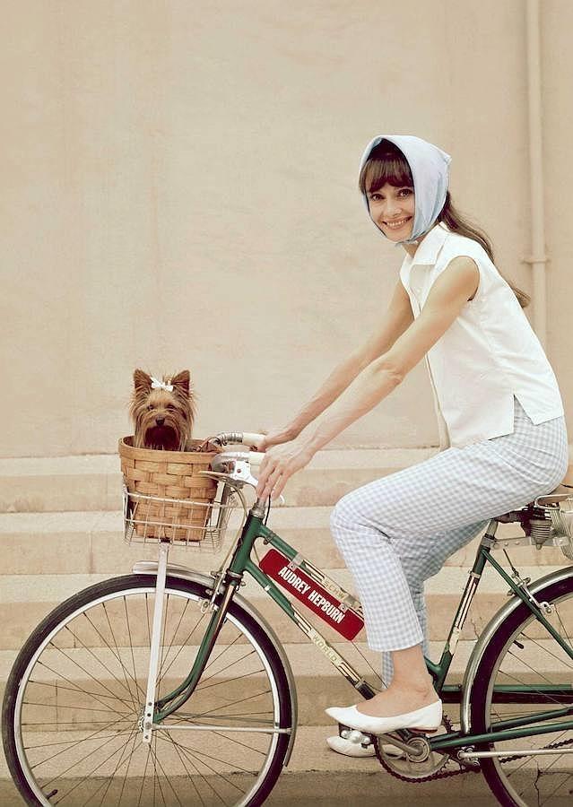 Su manera impoluta de lucir los pañuelos, convirtió a la actriz una vez más en icono de la moda de su tiempo
