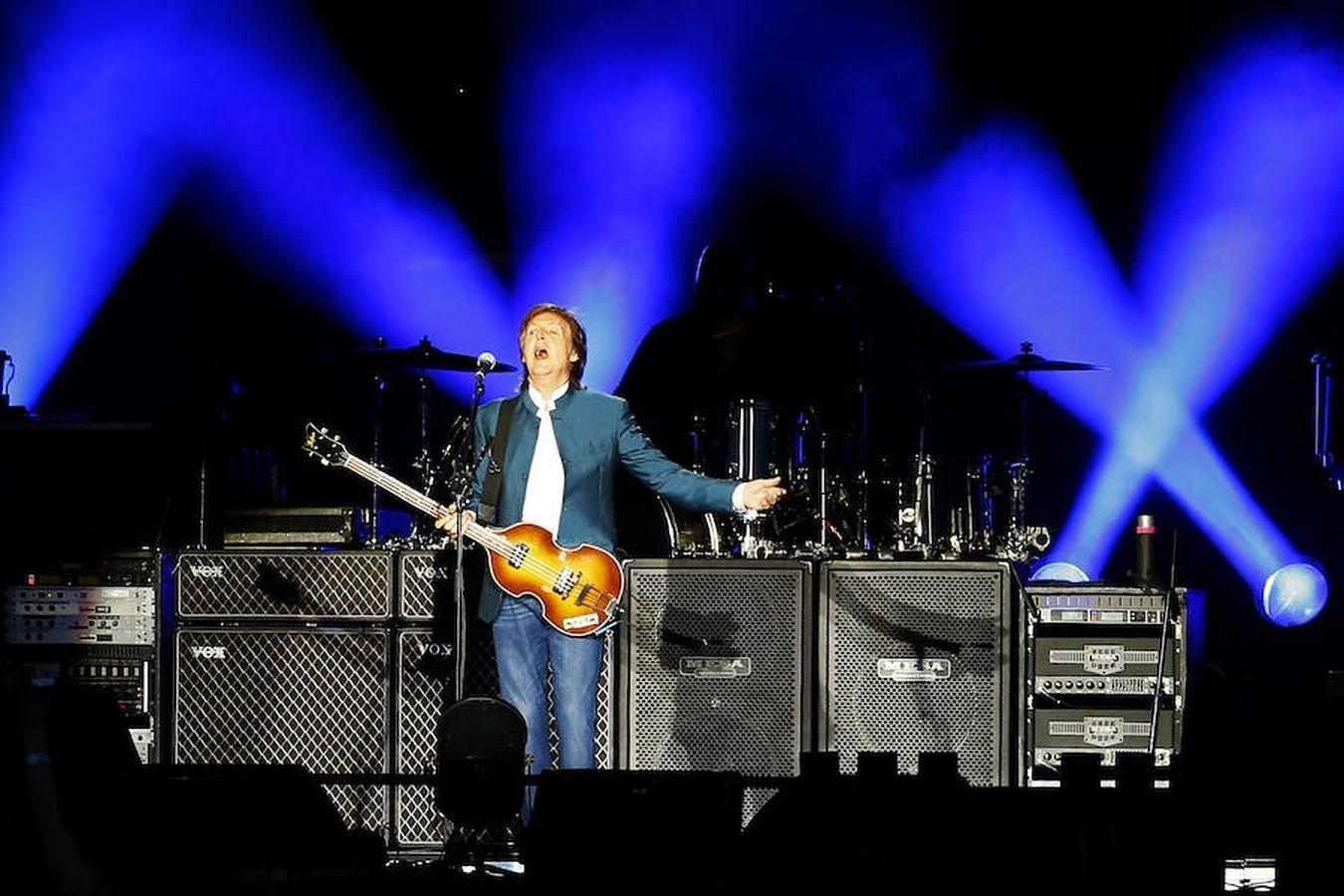 Paul McCartney durante el concierto