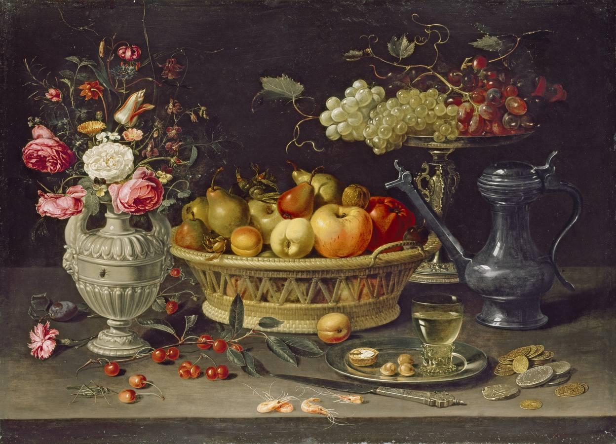 «Bodegón con frutas y flores» (c. 1612-1613), de Clara Peeters