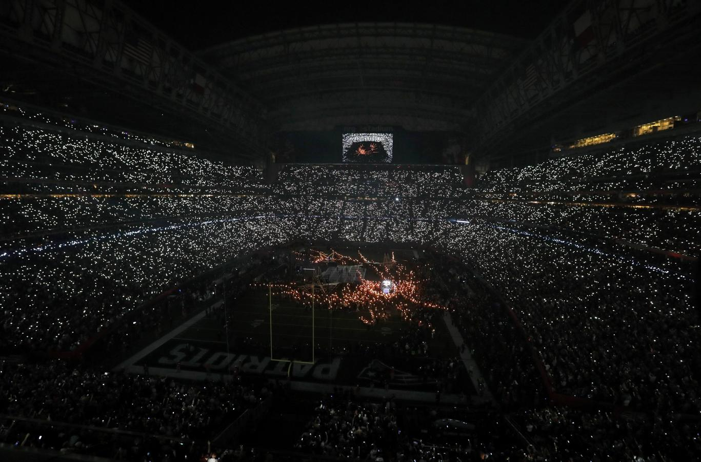 El estadio donde se disputó la final de la Super Bowl durante la actuación de Lady Gaga