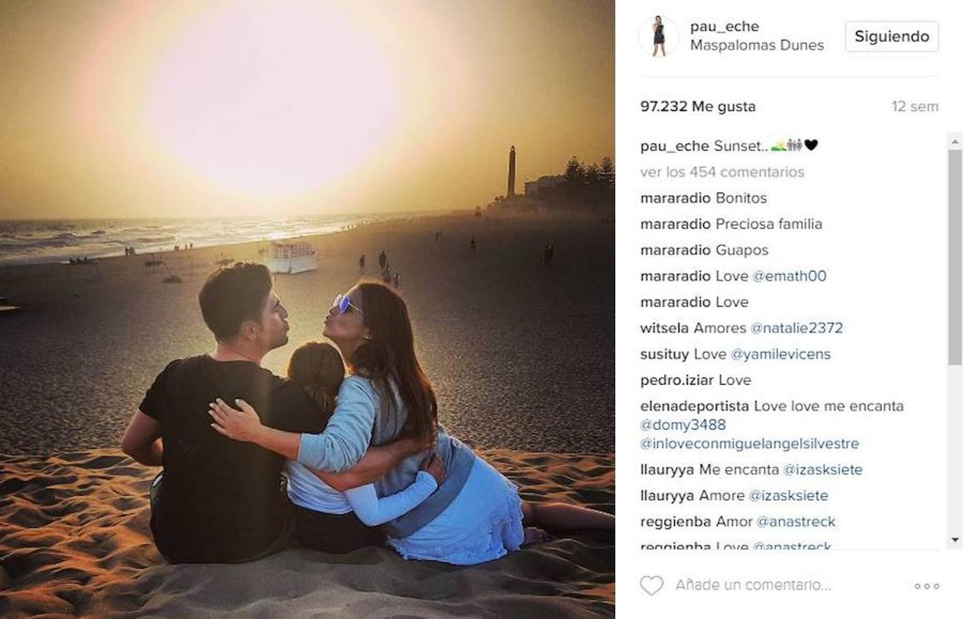 La familia disfrutó del nuevo año juntos en una de playas más famosas de Canarias