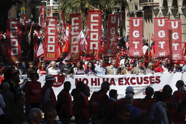 Marcha del Primero de Mayo en Valencia