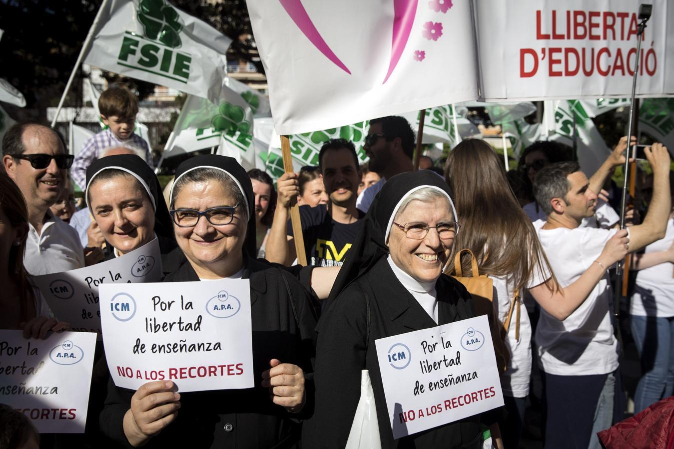 Manifestación en Valencia «por la libertad de enseñanza»
