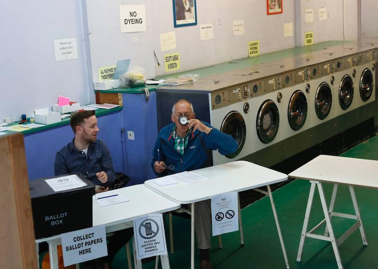 Votación en una lavandería