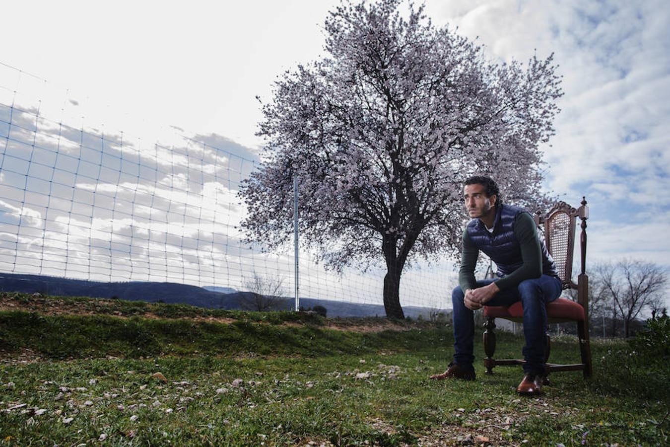 Iván Fandiño, en la finca de Zacarías Moreno en Chinchón (Madrid).