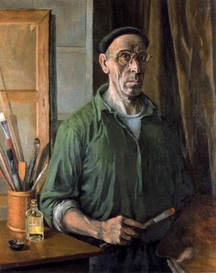 Alberto. Autorretrato (1950-1952) Óleo sobre lienzo. Colección privada