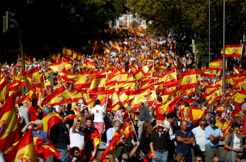Concentración en Madrid a favor de la unidad de España