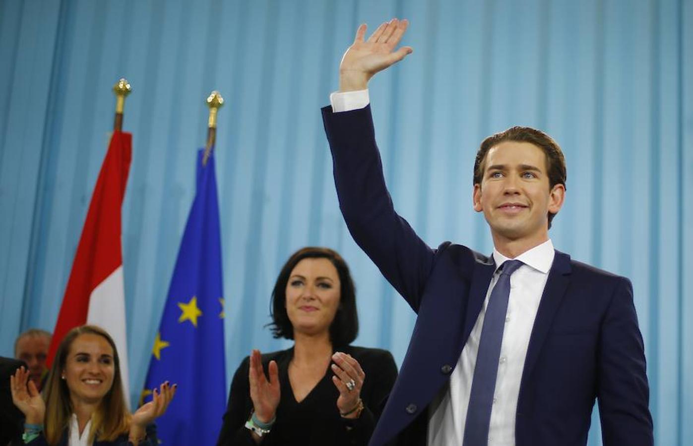 El líder del Partido Popular de Austria (ÖVP) celebró su victoria en Viena