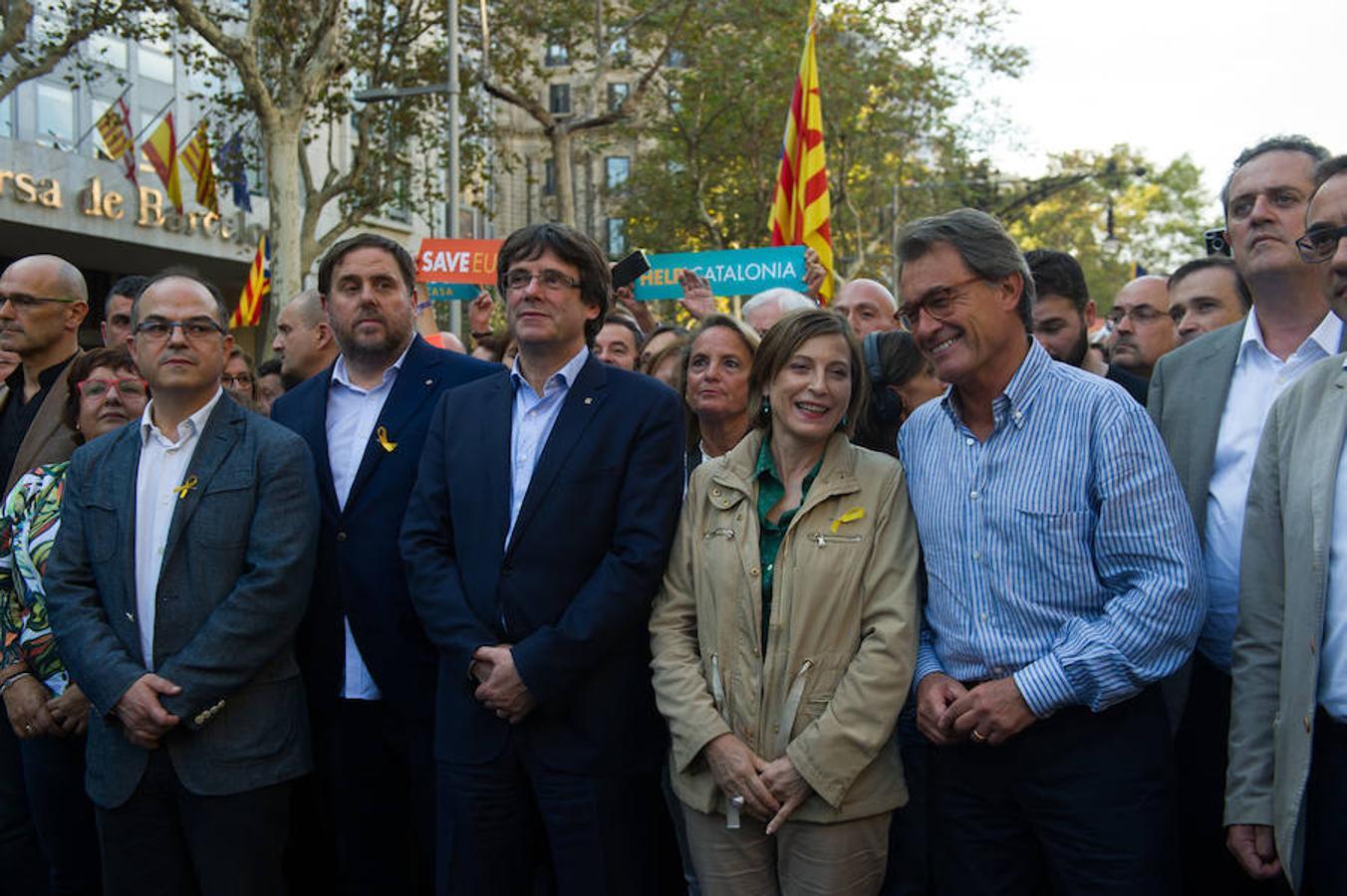 Puigdemont ha liderado la manifestación