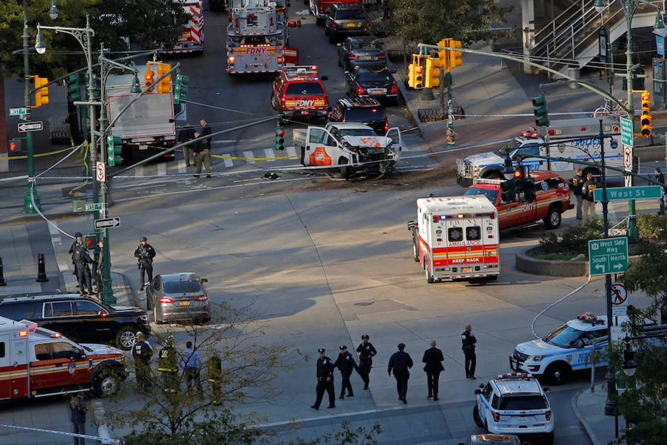 El atropello masivo en el sur de Manhattan, en imágenes