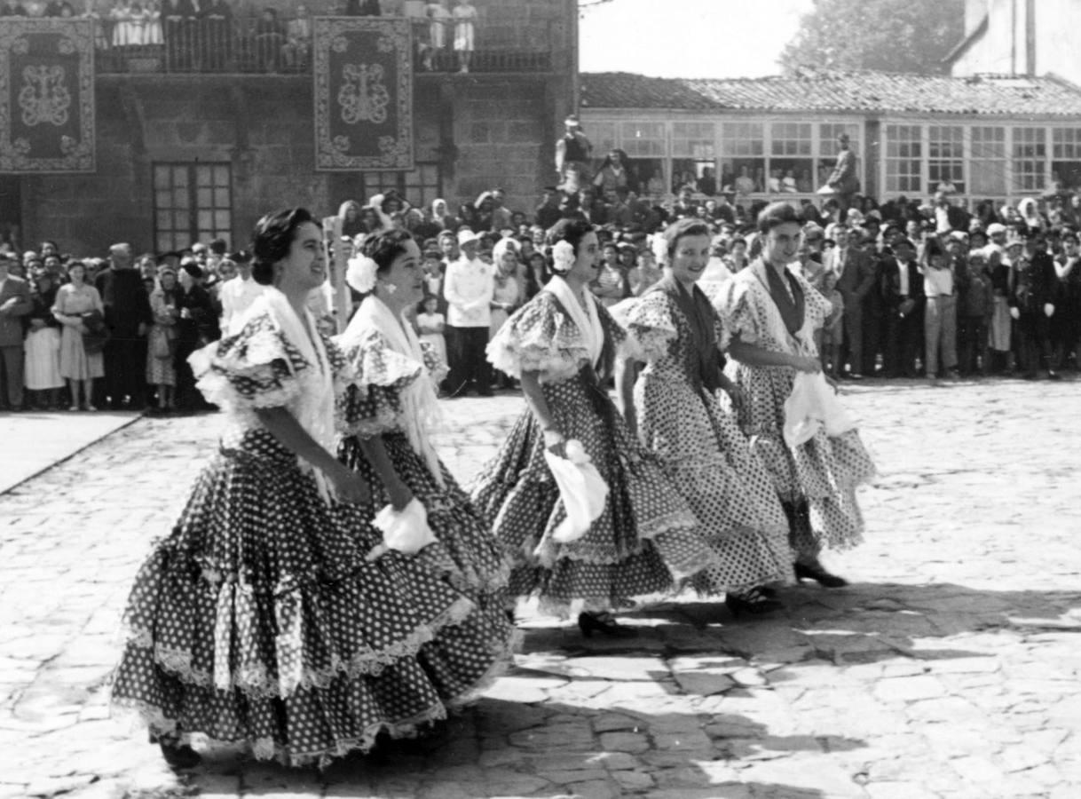 Peregrinas andaluzas en Santiago