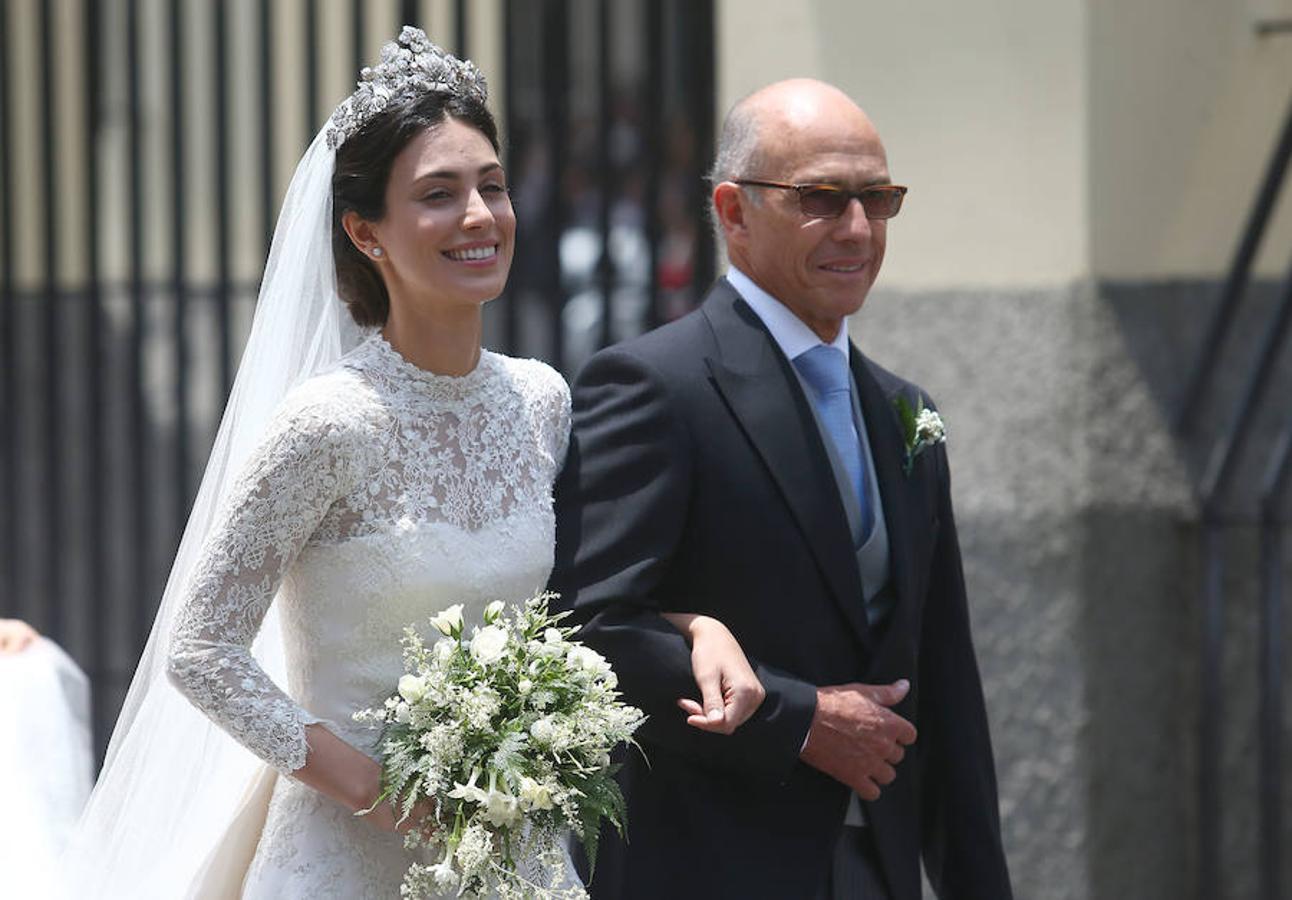 Alessandra de Osma junto a su padre, Felipe de Osma