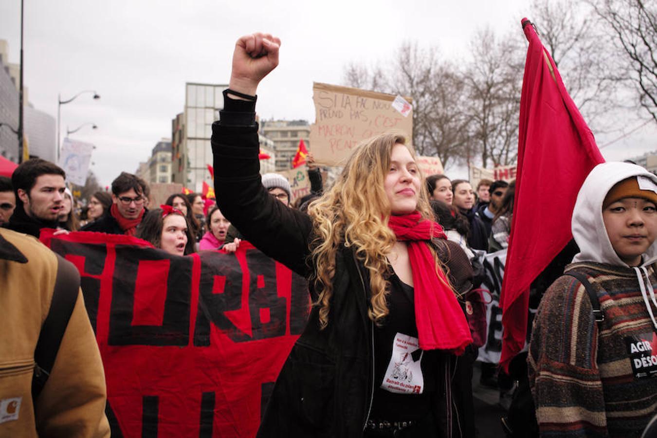 Huelga contra la política económica de Macron, en imágenes