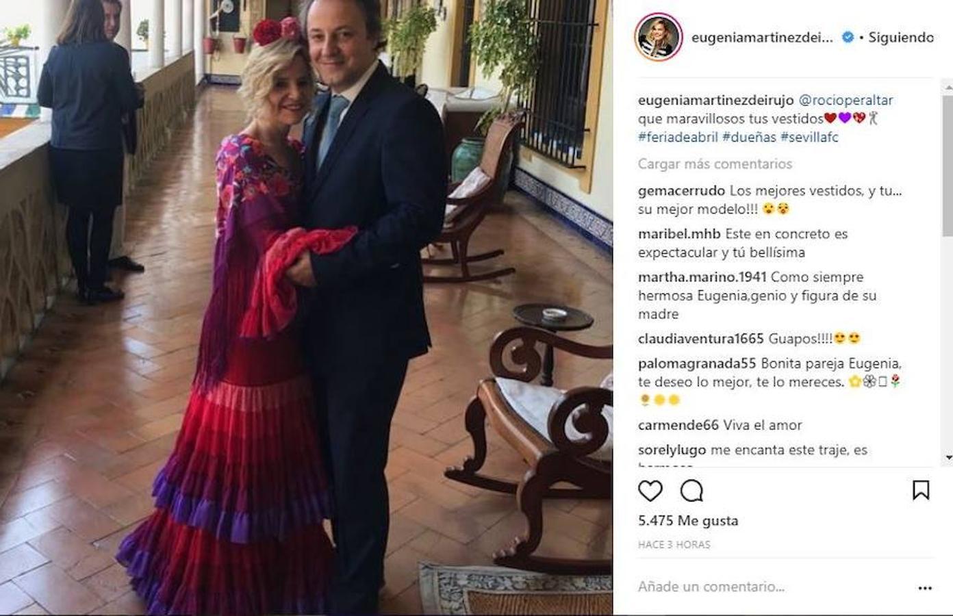 Eugenia Martínez de Irujo ha sido una de las famosas que se han acercado a Sevilla este fin de semana para vivir su fiesta más importante: la feria