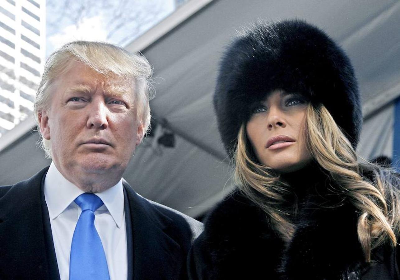Melania junto a Donald Trump