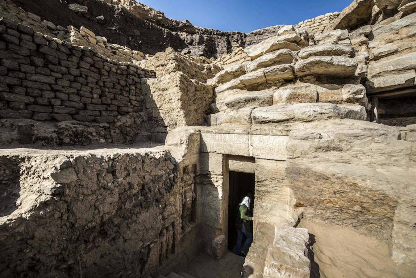 La entrada a la tumba de Wahtye, en Saqqara