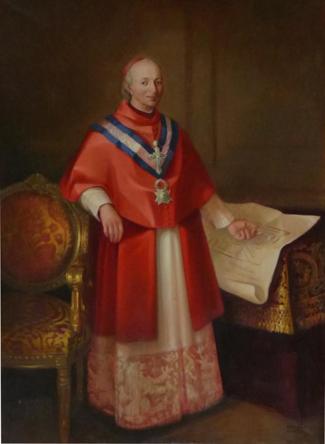 El cardenal Lorenzana. Óleo de Romero Carrión (1973). Vicerrectorado de la Universidad de Castilla-La Mancha en Toledo. FOTO RAFAEL DEL CERRO
