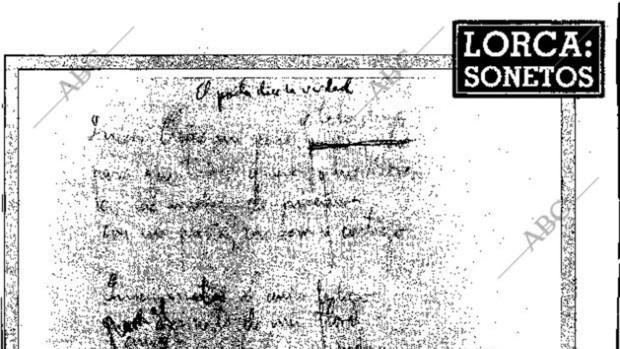 Los sonetos de amor de Lorca