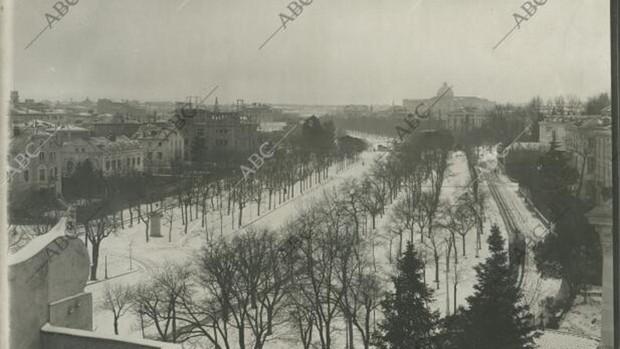 Grandes nevadas en Madrid