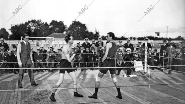 Los combates de boxeo de hace un siglo