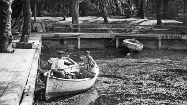 El estanque del Retiro se seca