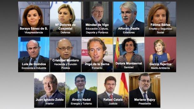 Rajoy desvela su nuevo ejecutivo Gobierno de espana ministerio del interior
