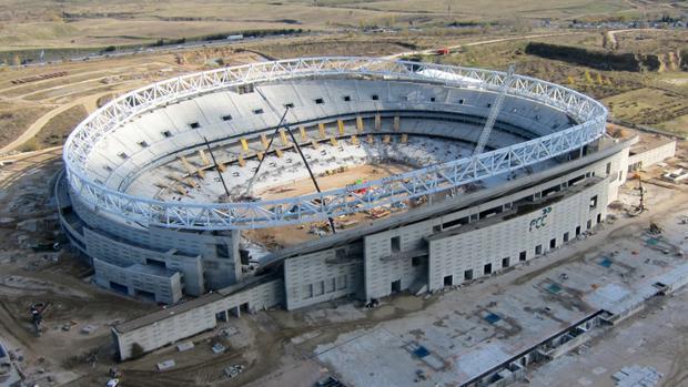 Atl tico de madrid el nuevo estadio del atl tico se for Puertas wanda metropolitano