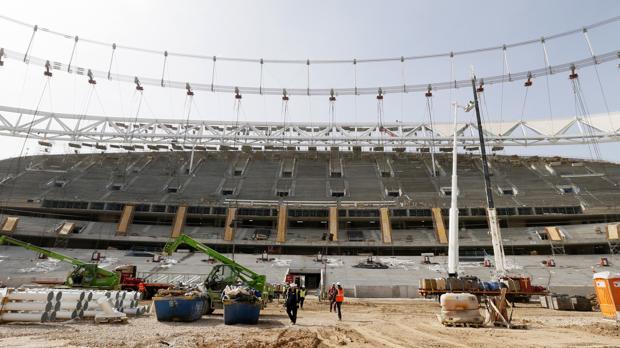 Estado actual de las obras en el nuevo estadio del Atlético de Madrid