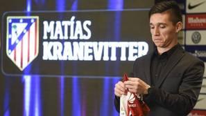 Kranevitter, el día de su presentación con el Atlético de Madrid