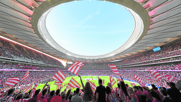 Wanda Metropolitano:  Como una final de la Champions