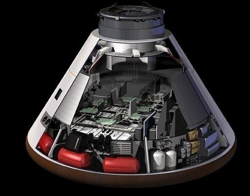 Detalle del módulo Orión, donde los astronautas pueden sobrevivir hasta 21 días