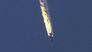 Un avión F-16 turco