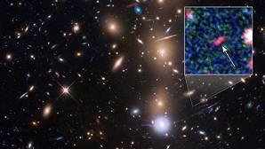 Imagen del Hubble de un grupo de galaxias, MACS J0416.1-2403, localizada a 4.000 millones de años luz