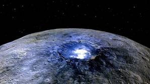 El brillo en el cráter Occator
