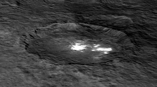 El cráter Occator en 3D