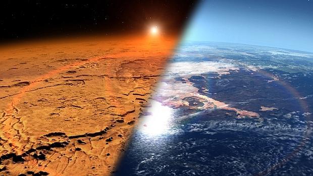 Resultado de imagen de Grandes corrientes de agua en el pasado de Marte
